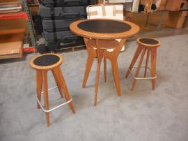 OTM-100 Portable Tables and Chairs (Amber Bamboo Finish)