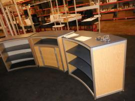 Custom Modular Counter with Shelves and Locking Storage -- Image 1