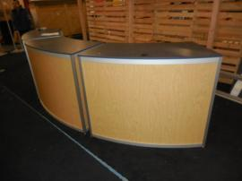 Custom Modular Counter with Shelves and Locking Storage -- Image 2