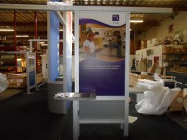 VK-5077 Island Exhibit with Custom Counters, Tension Fabric Graphics, and Wave Canopy -- Image 4