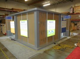 Custom Island with Extensive LED Lightboxes, Product Showcases, and Plex Windows (shown with protective paper) -- Image 2