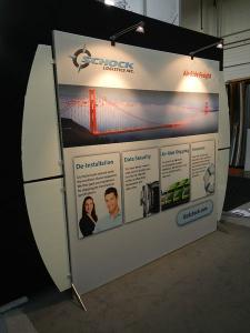 RENTAL:  SEGUE VK-1905 Hybrid Display with SEG Fabric Graphic, Halogen Arm Lights, and Frosted Wing Panels -- Image 2