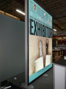 RENTAL:  12 ft. Double-Sided Backlit Tower with SEG Fabric Graphics -- Image 2