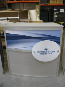 Custom eSmart Exhibit with Circular Header and Stage -- Image 2