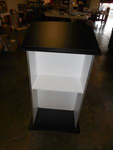 MOD-1533 Portable Pedestal/Podium with Open Back and Shelf -- Image 2