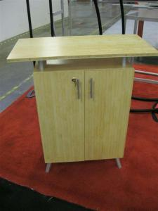 eSmart ECO-2C Counter Constructed from Bamboo with Lockable Storage -- Image 1