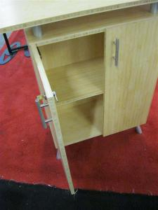 eSmart ECO-2C Counter Constructed from Bamboo with Lockable Storage -- Image 2