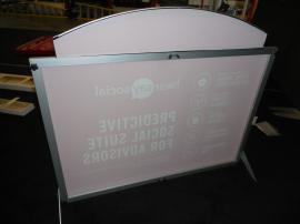 VK-1853 SEGUE Table Top Display with Silicone Edge Graphics and Portable Case -- Image 2