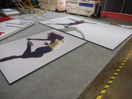 (2) Wall-mounted Silicone Edge Fabric Graphics (non-backlit) and Frames -- Image 1