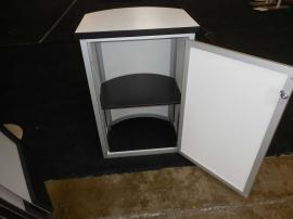 Modified MOD-1288 Modular Counter with iPad Tablet Insert, Shelves, and Locking Storage -- Image 3