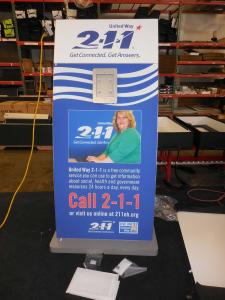 MOD-1362M Surface Lightbox Stand with Tension Fabric Graphics -- Image 1