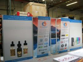 eSmart ECO-2050 with Lightweight Aluminum Frame, (4) Acrylic Shelves, Fabric Graphics and Custom Lighting -- Image 1