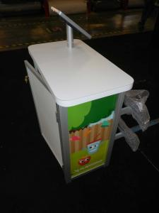 MOD-1551 Portable Counter with MOD-1329 iPad Swivel Stand and ZB-221 Literature Holder -- Image 2