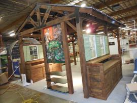 Custom Wood Fabrication Island Display with Storage, Ceiling, A/V, and Lighting -- Image 2