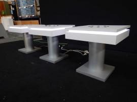 RENTAL: (3) RE-703 (MOD-1433) End Table Charging Stations with Laminate Tops and Optional Roto-molded Case with Wheels -- Image 2