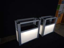 RENTAL: (2) RE-502 Display Cases with Lighting and Locking Door -- Image 1