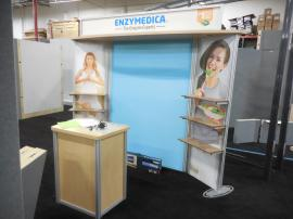 Modified VK-1105 Visionary Designs Hybrid Display with Shelves and Tension Fabric Graphics -- Image 1