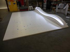 Custom Retail Wall Mount with Peg Fixture and LED Halo Lighting -- Image 1