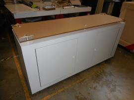 Custom Wood Counter with Locking Doors and Plex Countertop -- Image 1