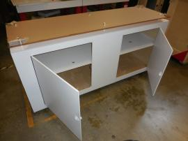 Custom Wood Counter with Locking Doors and Plex Countertop -- Image 2
