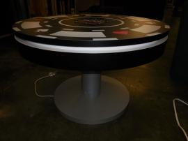MOD-1430 Charging Station Coffee Table with (8) USB Ports and Graphics -- Image 2
