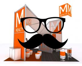 A Mustache Not Enough? Add These Glasses to Attract the Intellectuals on the Trade Show Floor.