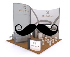 Need a Booth Design Refresh? How About Our Handlebar Mustache Accessory?  You'll be the Talk of the Show.