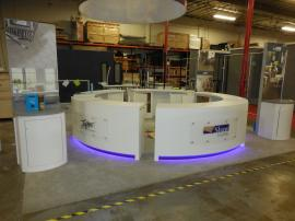 Custom Curved Counters with Adjustable RGB Lights, USB Charging Ports, and Storage -- Image 2