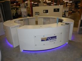 Custom Curved Counters with Adjustable RGB Lights, USB Charging Ports, and Storage -- Image 3