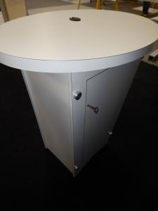 (3) RE-1201 Tapered Counters with White Laminate Finish, Locking Doors & Interior Shelves -- Image 2
