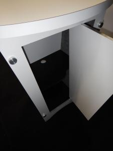 (3) RE-1201 Tapered Counters with White Laminate Finish, Locking Doors & Interior Shelves -- Image 3