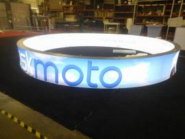 Custom Hanging Sign with SuperNova LED Lights and Double-sided SEG Graphics. For Permanent Retail Installation -- Image 1