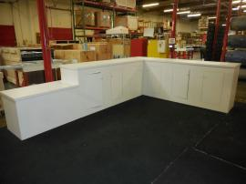 Custom Modular Euro LT Counter with Locking Storage and Internal Shelves -- Image 1