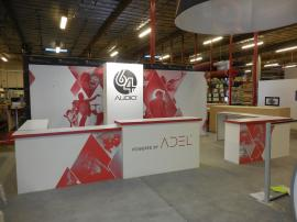 Custom Hybrid Inline Exhibit with Fabric and Direct Print Graphics -- Image 1