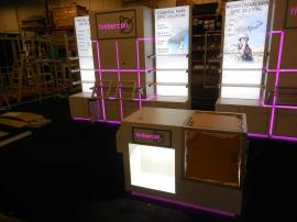 Custom Inline Exhibit with Shelving, Counters, Product Displays, Storage, Lightboxes, and Programmable LED RGB Lighting -- Image 3