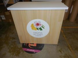 LT-114 Modular Laminate Counter with Graphic and Open Back -- Image 1