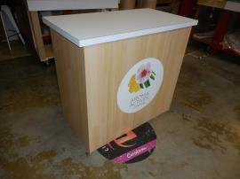 LT-114 Modular Laminate Counter with Graphic and Open Back -- Image 2