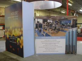 Custom eSmart Island with Storage Tower, SEG Fabric Graphics and Literature Racks -- Image 2