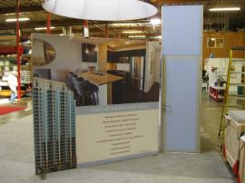 Custom eSmart Island with Storage Tower, SEG Fabric Graphics and Literature Racks -- Image 3