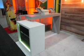 Custom with Lightweight Recycled Aluminum Frame, LED Backlighting, and iPad Mounts on Backlit Counter -- Image 5