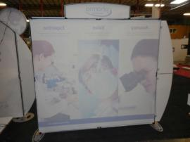 VK-1205 Sacagawea Portable Hybrid Display with Tension Fabric Graphics, Header, and Workstation Counter -- Image 2