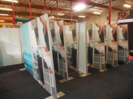 Freestanding Gravitee Retail Dividers with Double-sided SEG Graphics and Adjustable Hinges -- Image 1