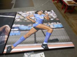 Large Format SEG Fabric Graphics with Aluminum Frame