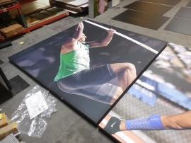 SEG Fabric Graphics with Black Powder-coated Aluminum Frame