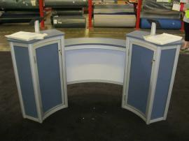 ECO-38C Curved Counter with Storage