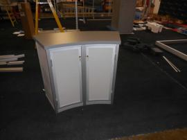 Modular Trade Show Counter with Graphics and Locking Storage