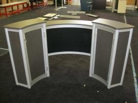ECO-38C Reception Counter with Locking Storage