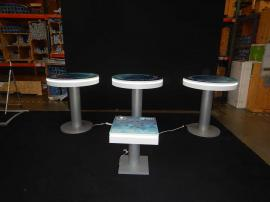 RENTAL (3) RE-704 Charging Station Tables, (1) RE-703 Charging Station Table, and Adhesive Graphics for Top Surfaces
