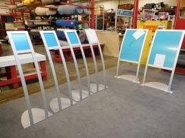 Custom Graphic Retail Display Stands -- All Aluminum Frames