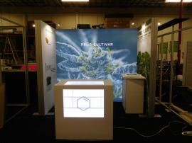 Custom SuperNova Inline Lightbox with (2) Double-sided SEG Graphic Towers